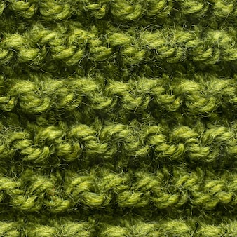 Green knitted fabric seamless pattern for borderless fill. knitted fabric repeating pattern