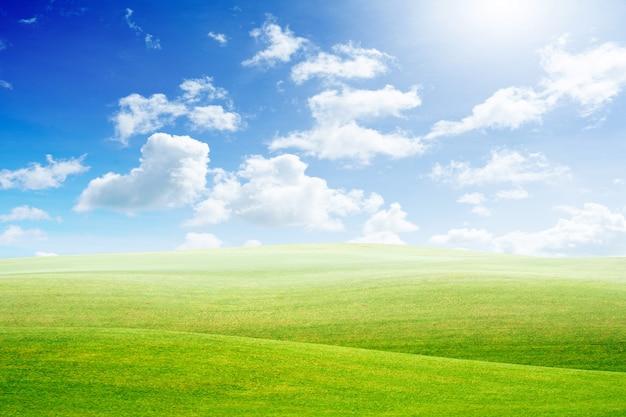 녹색 땅과 푸른 하늘