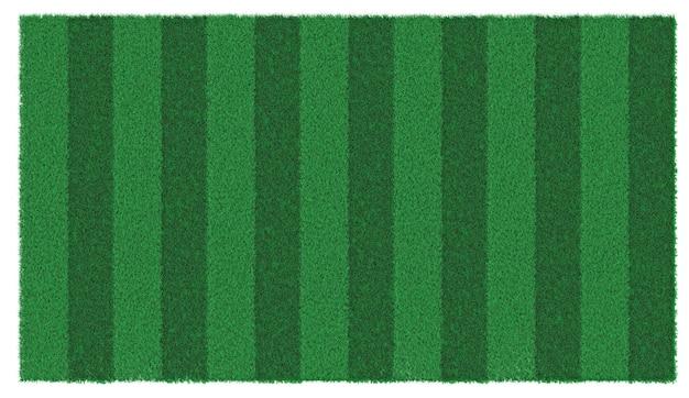 Green lawn 3d illustration
