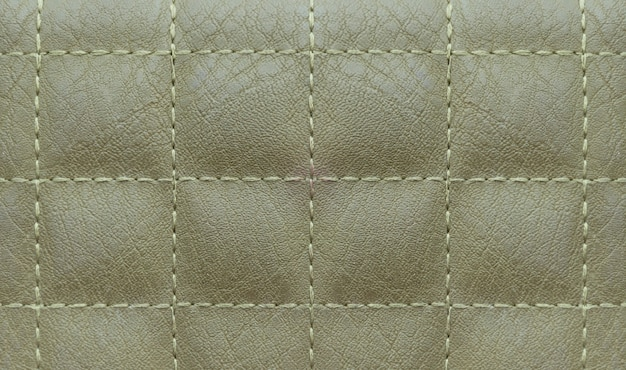 Green leather surface square pattern