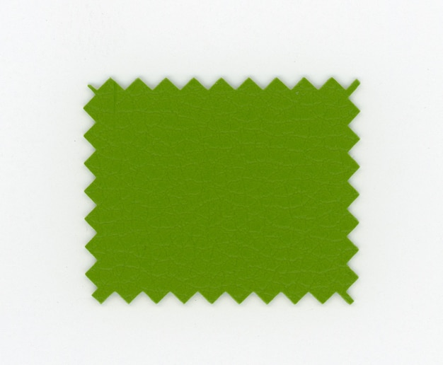 Green leatherette faux leather sample