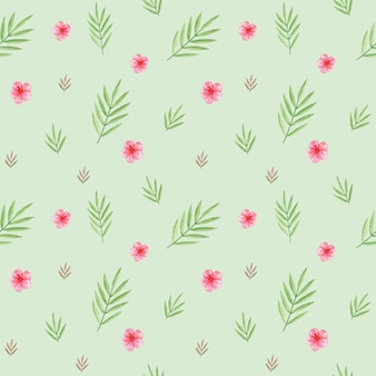 녹색 잎 디지털 종이, 종려 잎 원활한 패턴, 섬유 패턴