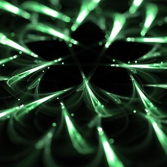 Зеленые частицы огни обои фон