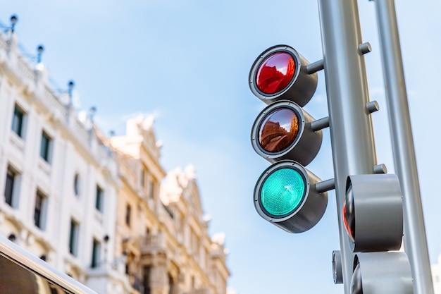 Green light of a traffic light