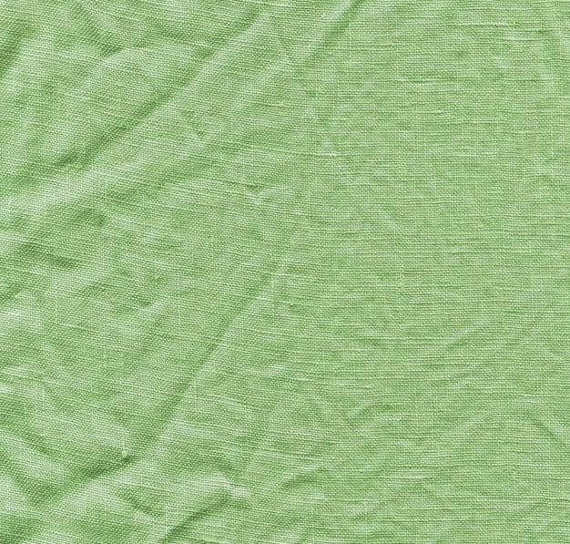 Green linen texture background