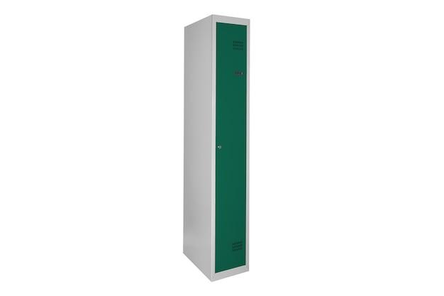 라커룸용 녹색 사물함. 체인지 룸 메탈 박스 그레이