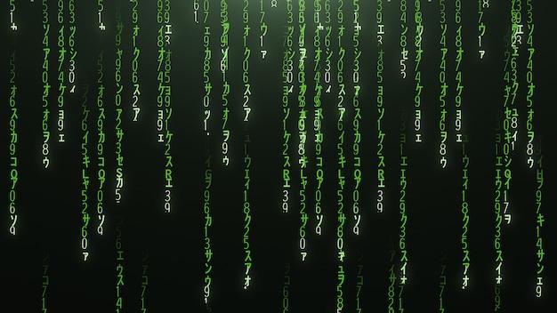 Зеленый матричный кодовый фон