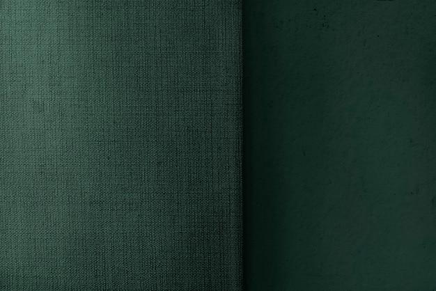 緑のマット織り生地の織り目加工の背景
