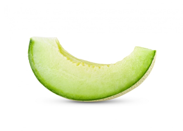 Green melon isolated on white