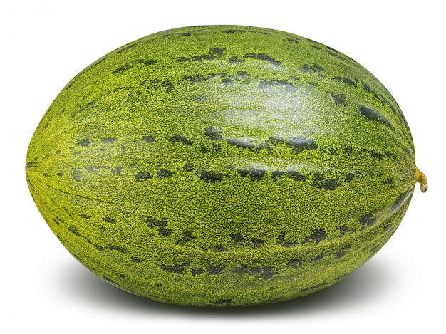 Green melon isolated with clipping path