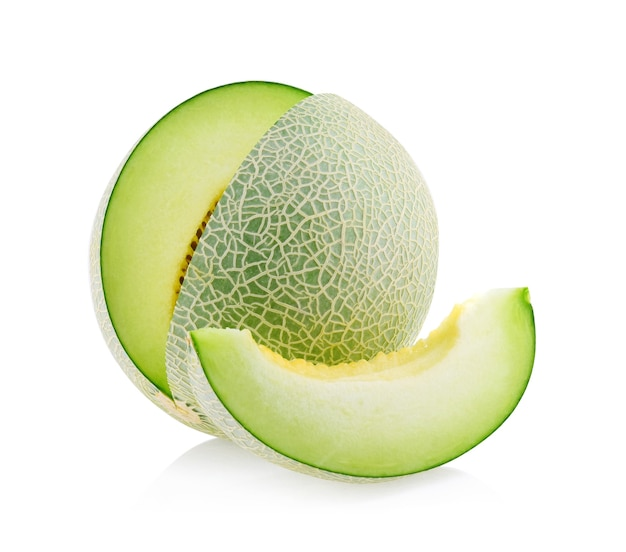 Green melon isolated