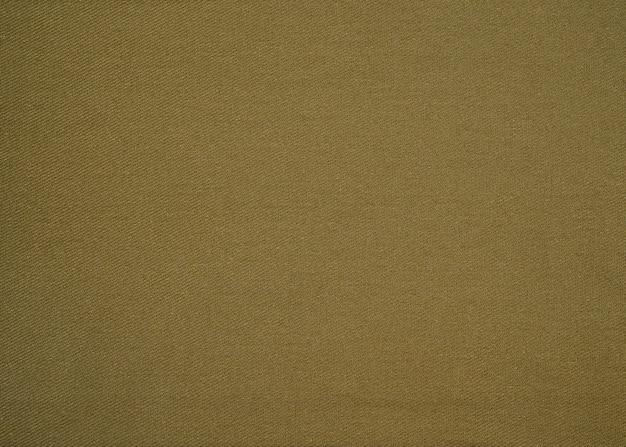 Green natural organic flax, linen cotton blend textured fabric close up