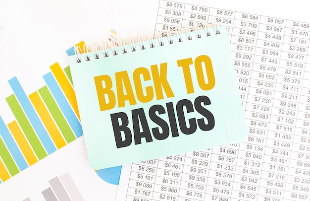 Зеленый блокнот по финансовой документации. текст основы. бизнес-концепция