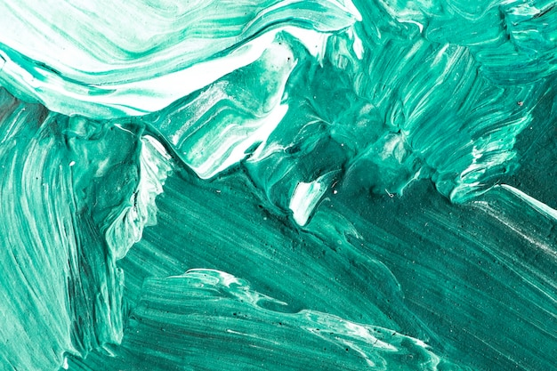 녹색 오일 페인트 스트로크 질감 된 배경 무료 사진