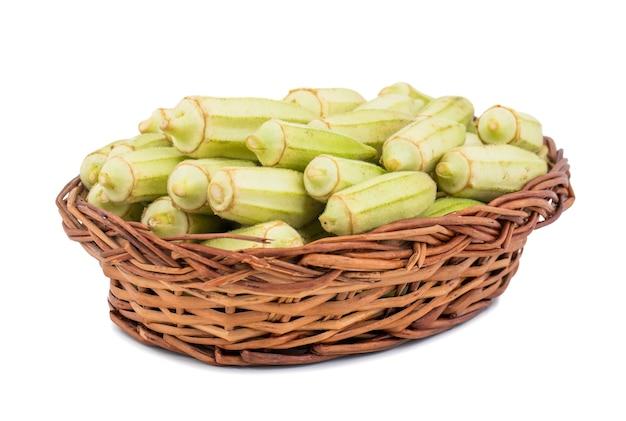 Green okra vegetable or lady finger