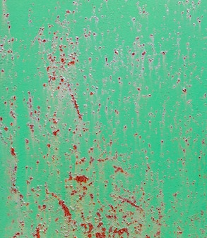 Green old painted metal