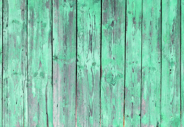 Green old wood boards