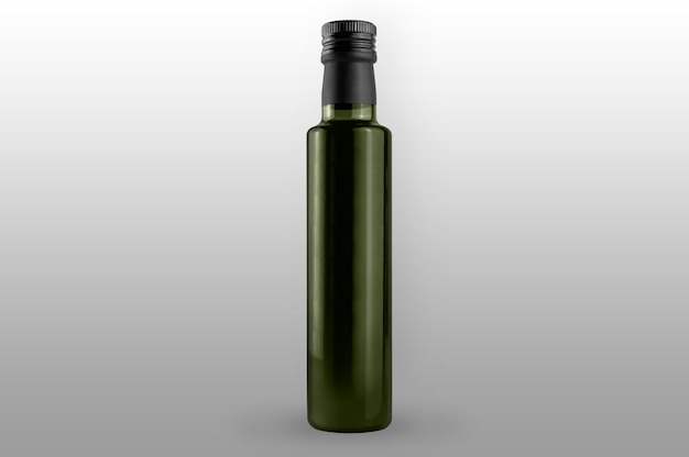 Olio di oliva verde isolato