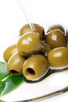 Green olives in oil