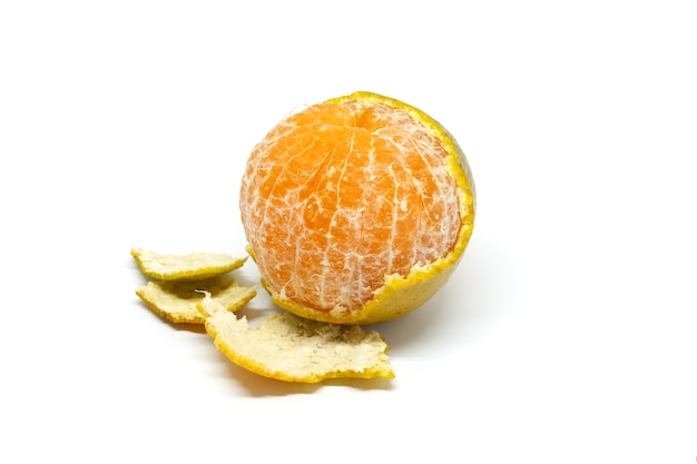 Green, orange peel