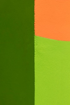 Green and orange wall background