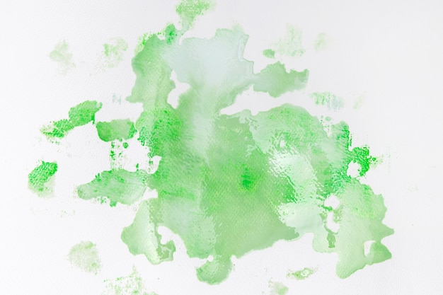 Green paint stain