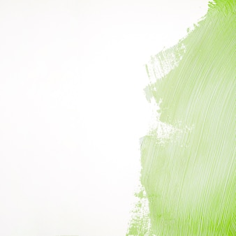 Green paint stroke