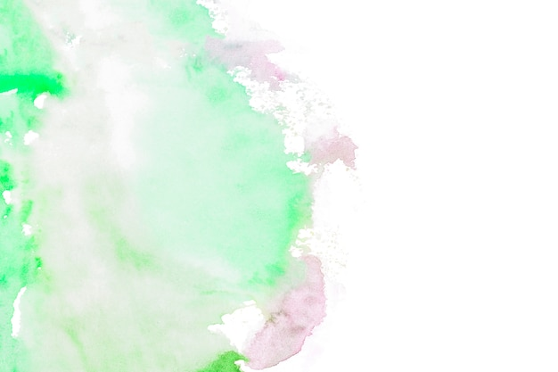 Green paint strokes on white background