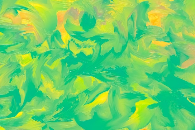 Green painted background, liquid paint