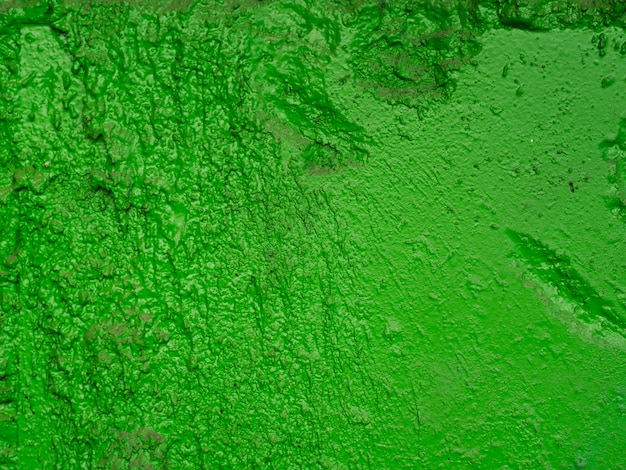 Green painted textured surface
