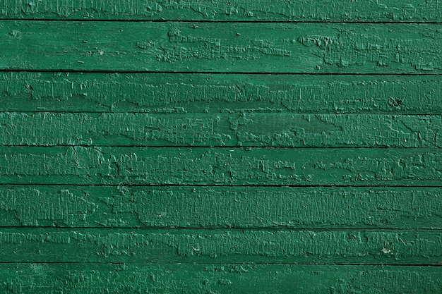 Green painted wood with horizontal stripes