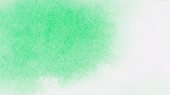 Green paints on white paper
