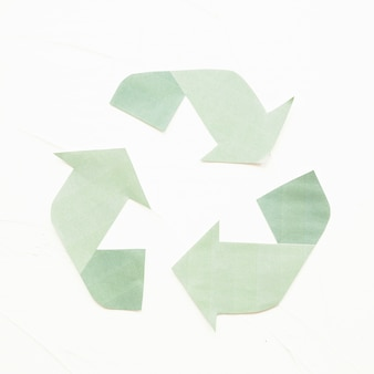 Green paper recycle logo