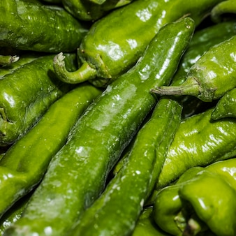 Green pepper on market stock for sale