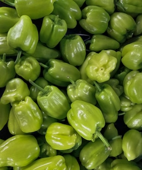 Green peppers background
