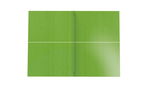 Green ping pong board or table with net isolated on a white background 3d rendering