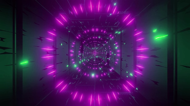 Green pink 4k uhd color changing particles 3d illustration