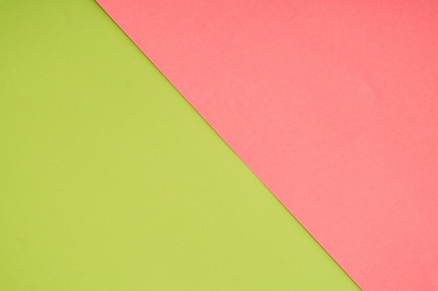 Green and pink pastel paper color for background