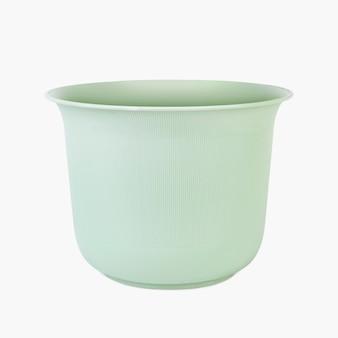 Green plant pot for home decor