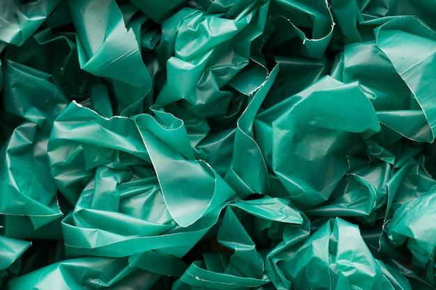 Green plastic texture background