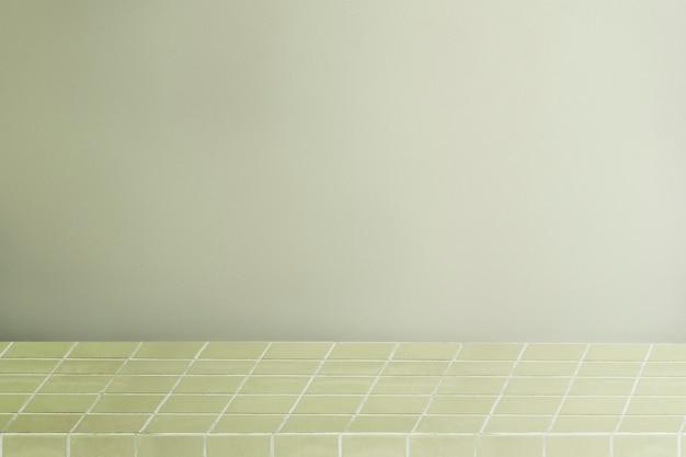 緑の製品の背景、グリッドパターンの棚