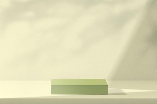 디자인 공간이 있는 녹색 제품 배경