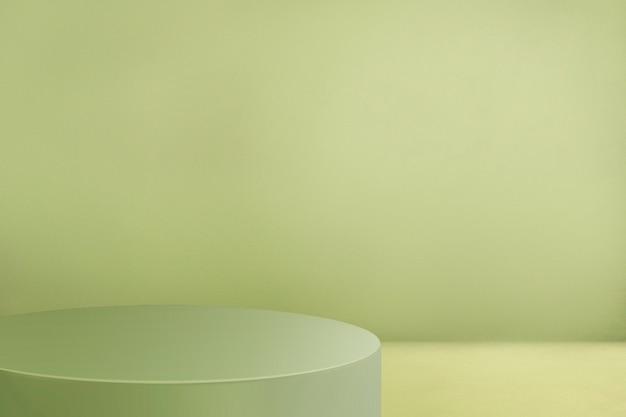 デザインスペースと緑の製品の背景