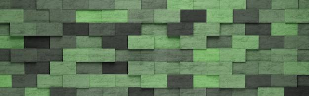 녹색 사각형 패턴