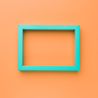 Green rectangular empty picture frame