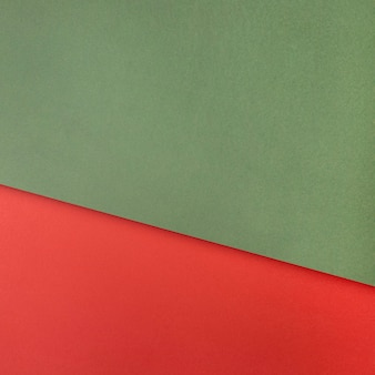 Green and red paper copy space