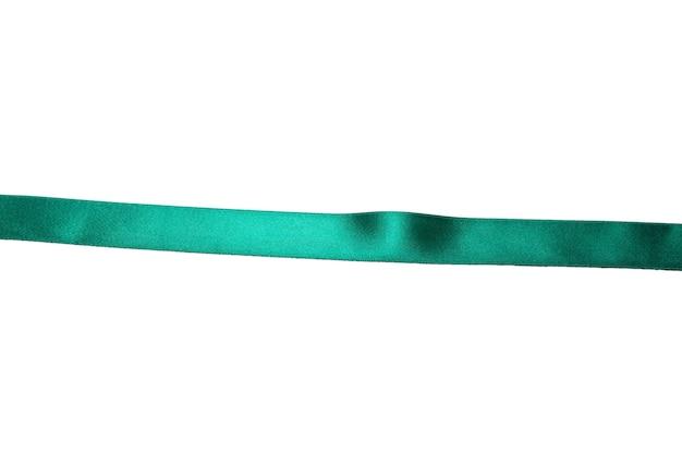 녹색 리본 흰색 배경에 고립입니다.