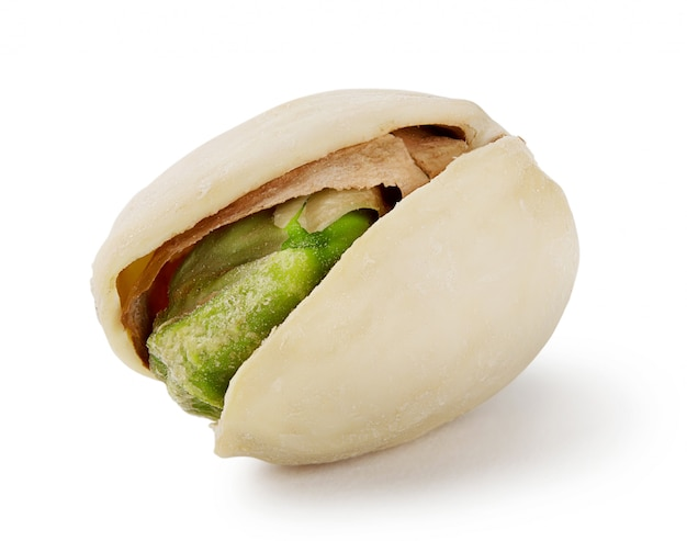 Green ripe salted pistachios
