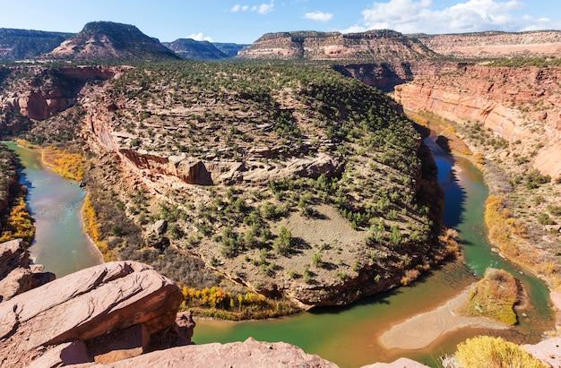 米国コロラド州のグリーン川