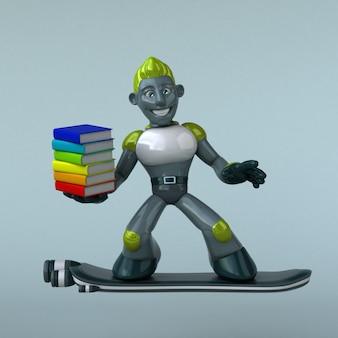 Зеленый робот - 3d персонаж